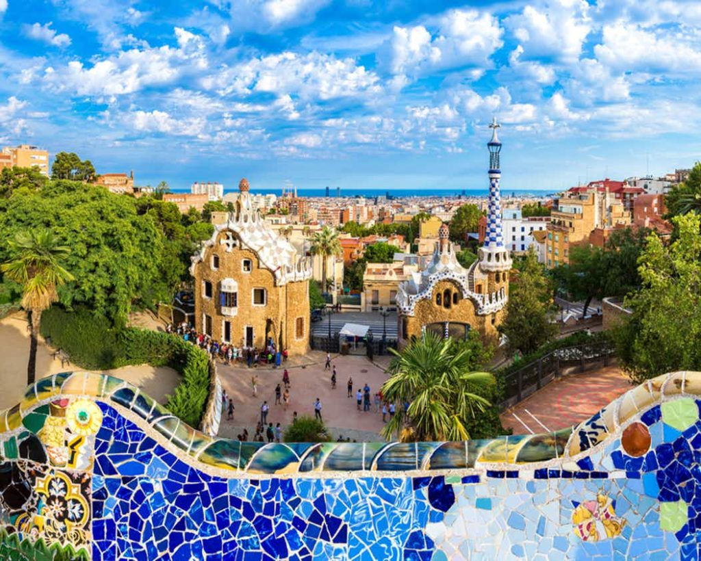 Park Güell(Parcul surrealist al lui Gaudi) din Barcelona