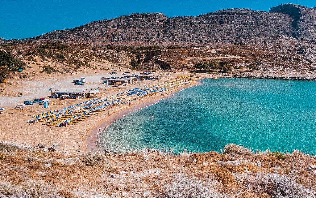 Plaja Agathi din Insula Rodos