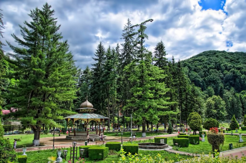 Stațiunea balneară Slănic Moldova din România