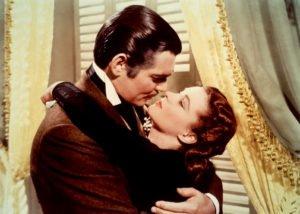 Scarlett O'Hara și Rhett Butler cuplu celebru din literatura