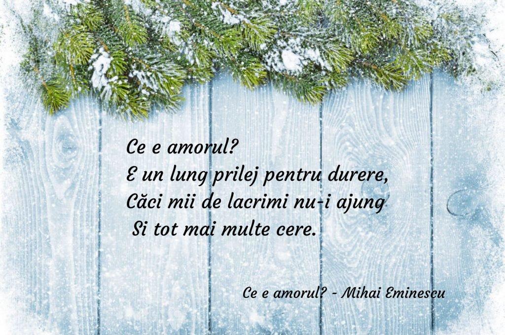 Ce este amorul - poezii de Mihai Eminescu